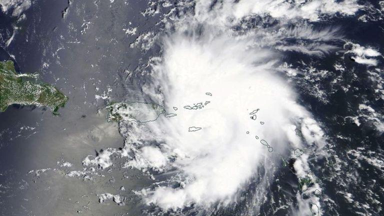 Le satellite Terra de la NASA a capturé cette image de Dorian se dirigeant vers la Floride