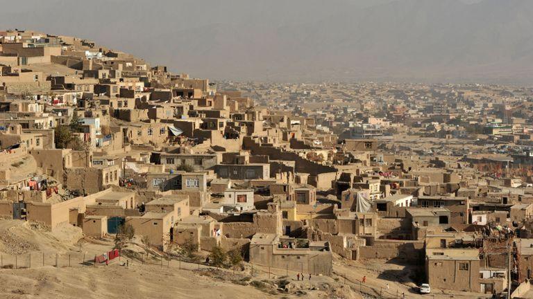 Une vue de la capitale afghane, Kaboul
