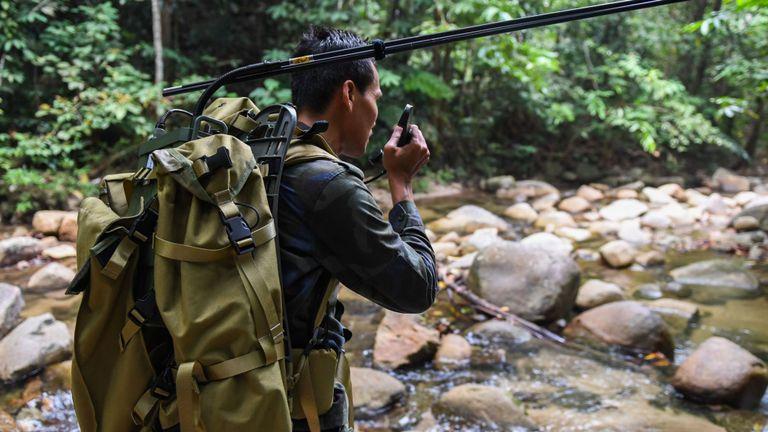 La recherche s'étend dans la jungle dense autour de l'hôtel