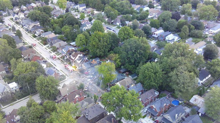 L'explosion a endommagé d'autres maisons à proximité