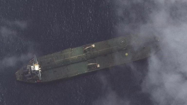 Adrian Darya-1 apparemment montré par des images satellites près de la Syrie