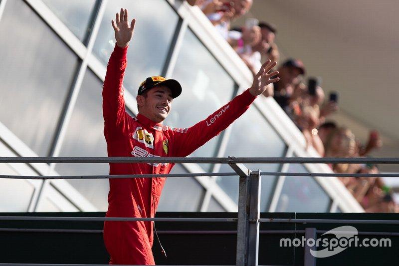 Vainqueur de la course Charles Leclerc, Ferrari