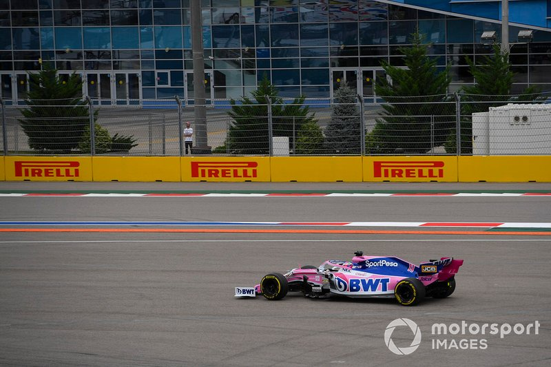 Sergio Perez, Racing Point RP19, court large