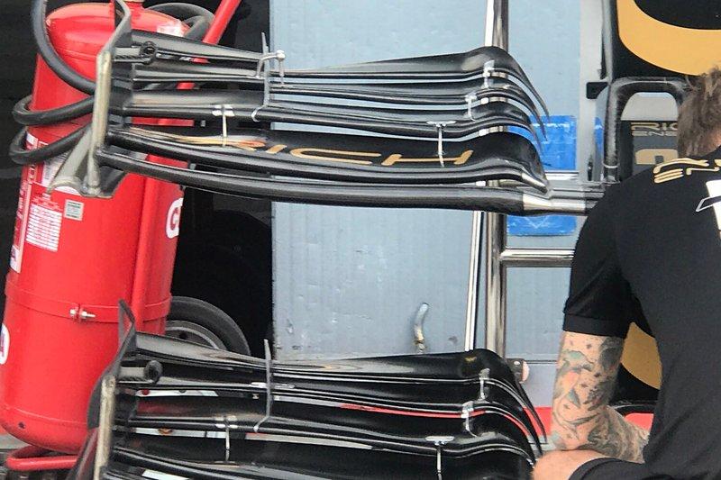 Détail de laile avant du Haas F1 Team VF-19