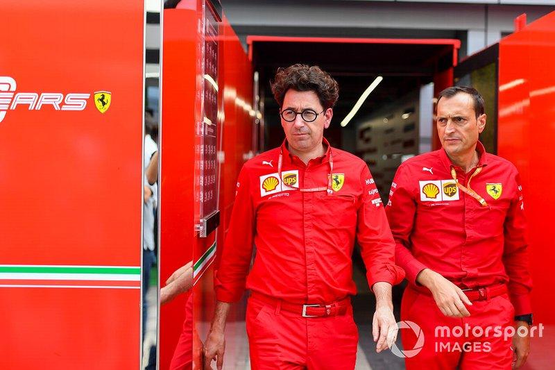 Mattia Binotto, directeur de léquipe Ferrari