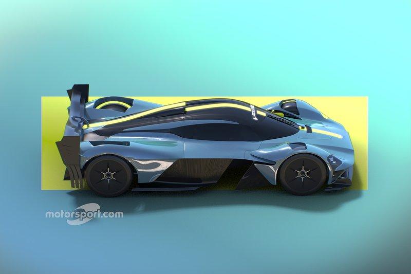 Motorsport Network rendu Aston Martin Valkyrie hypercar