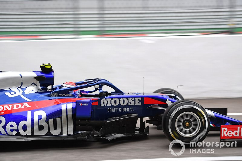 16: Pierre Gasly, Toro Rosso STR14, 133.950 (avec pénalité de 5 places sur la grille)