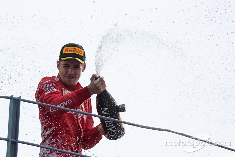 Podium: Charles Leclerc, vainqueur de la course, Ferrari