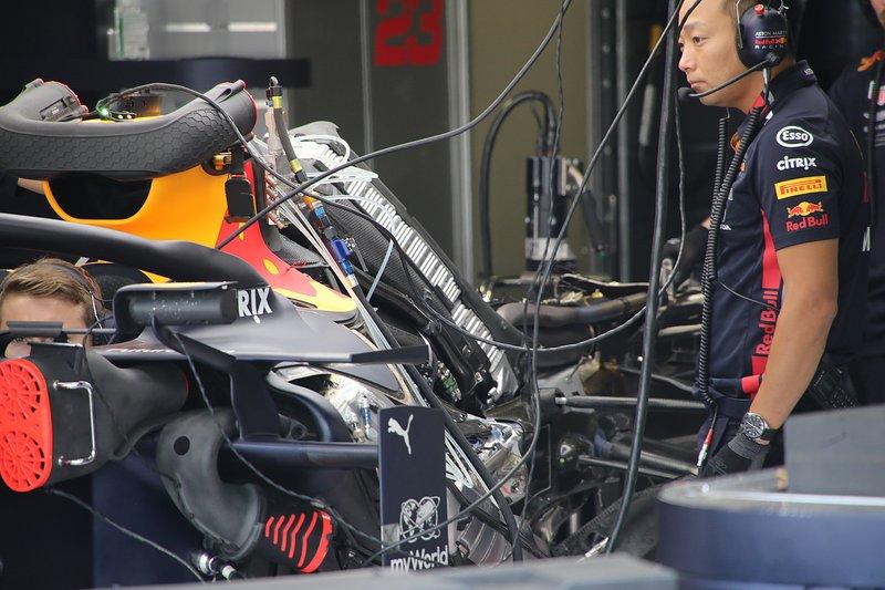 Détail arrière du Red Bull Racing RB15