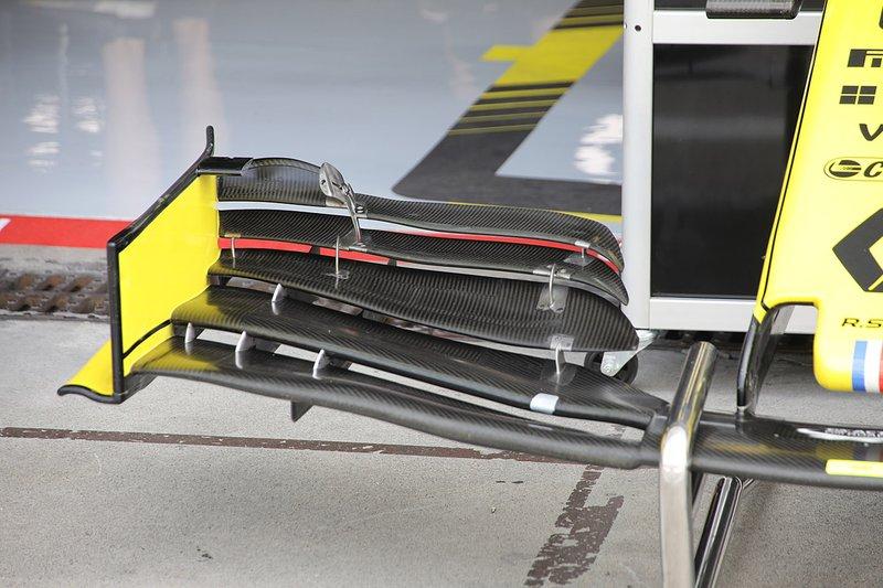 Détail de laile avant du Renault F1 Team R.S.19