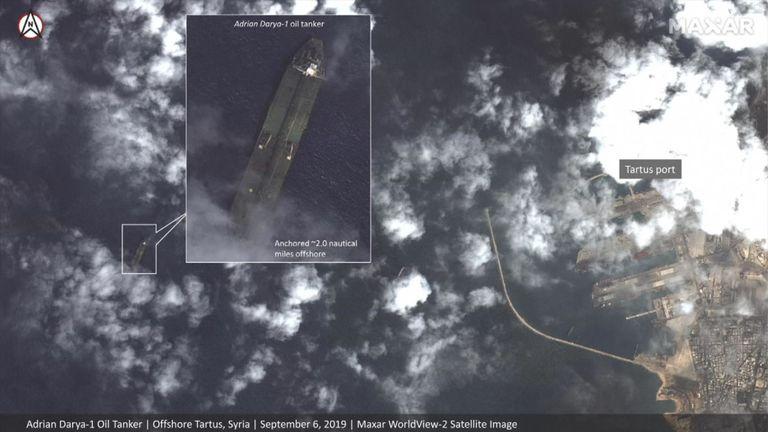 Le navire a été vu près du port syrien de Tartous