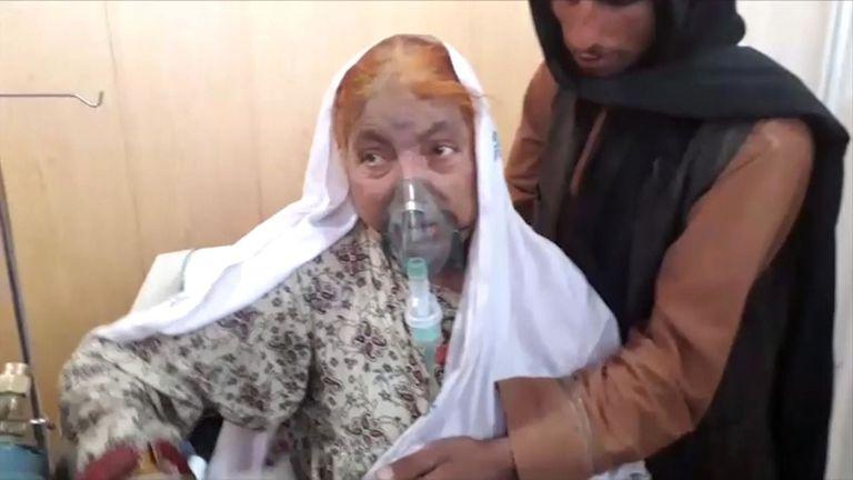 Certaines victimes ont été transportées à l'intérieur de l'hôpital