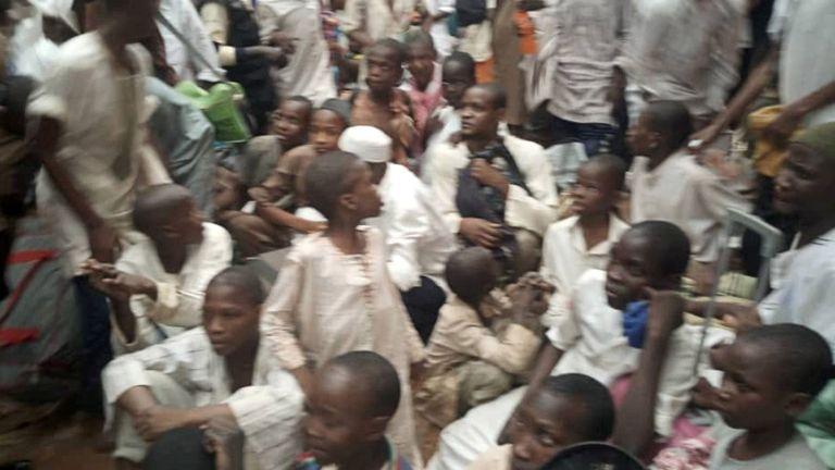 Des garçons et des jeunes hommes sauvés au Nigeria