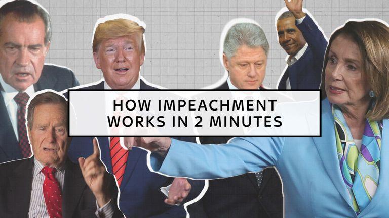 Comment la destitution fonctionne pour un président américain en deux minutes.