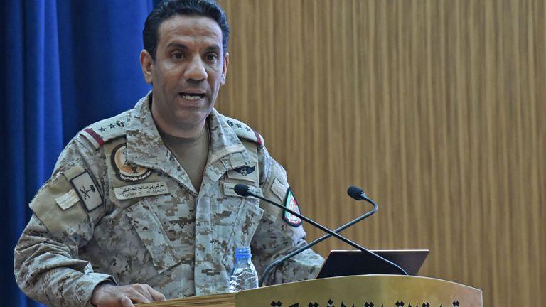 Le colonel Turki al-Malki a déclaré que les armes étaient iraniennes