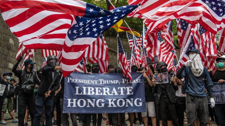 Manifestation anti-gouvernementale à Hong Kong