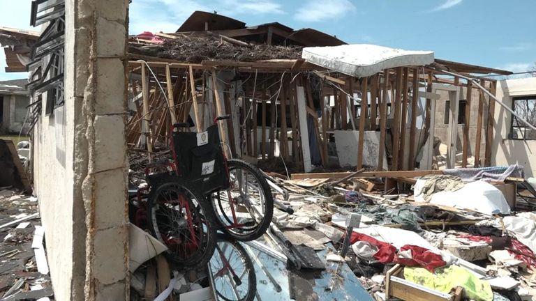 Ville de High Rock sur Grand Bahama qui a été isolée depuis le passage de l'ouragan Dorian