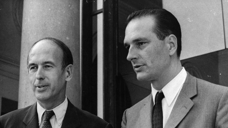 M. Chirac, à droite, était ministre des finances en 1969