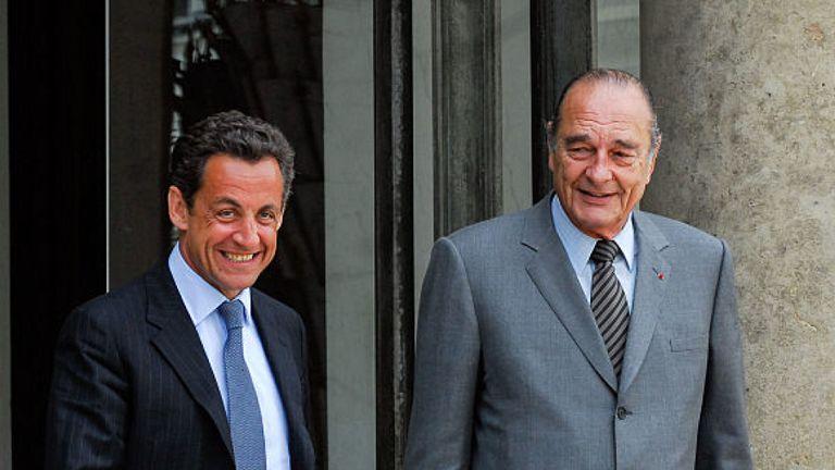 M. Chirac a été remplacé par son protégé Nikolas Sarkozy en 2005