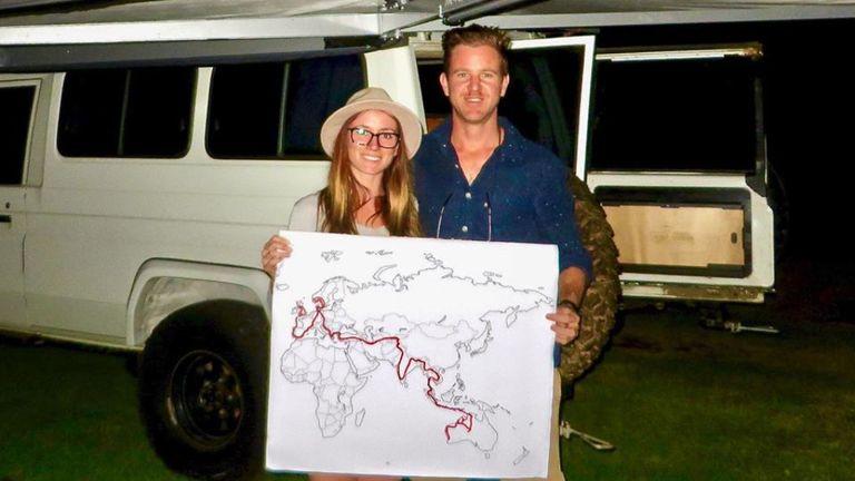 Jolie King (britannique et australienne) et son petit ami australien Mark Firkin ont été détenus dans une prison iranienne. Pic: Facebook