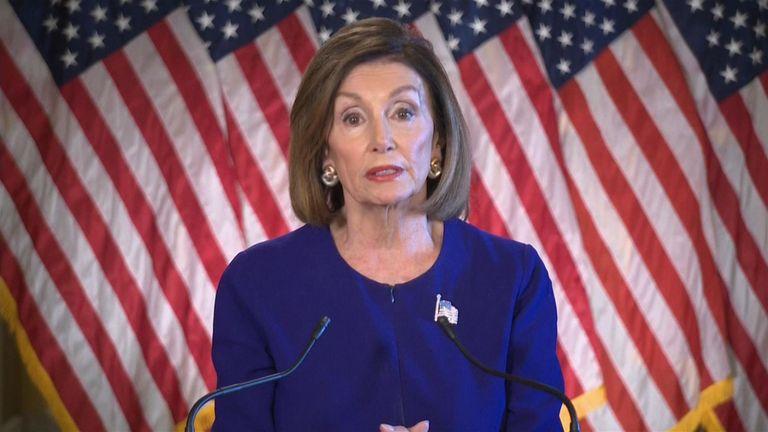 La présidente de la Chambre des représentants, Nancye Pelosi, a déclaré que le président Trump avait trahi son serment d'office.