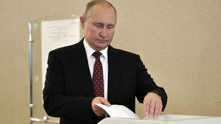 Poutine vote dimanche à Moscou
