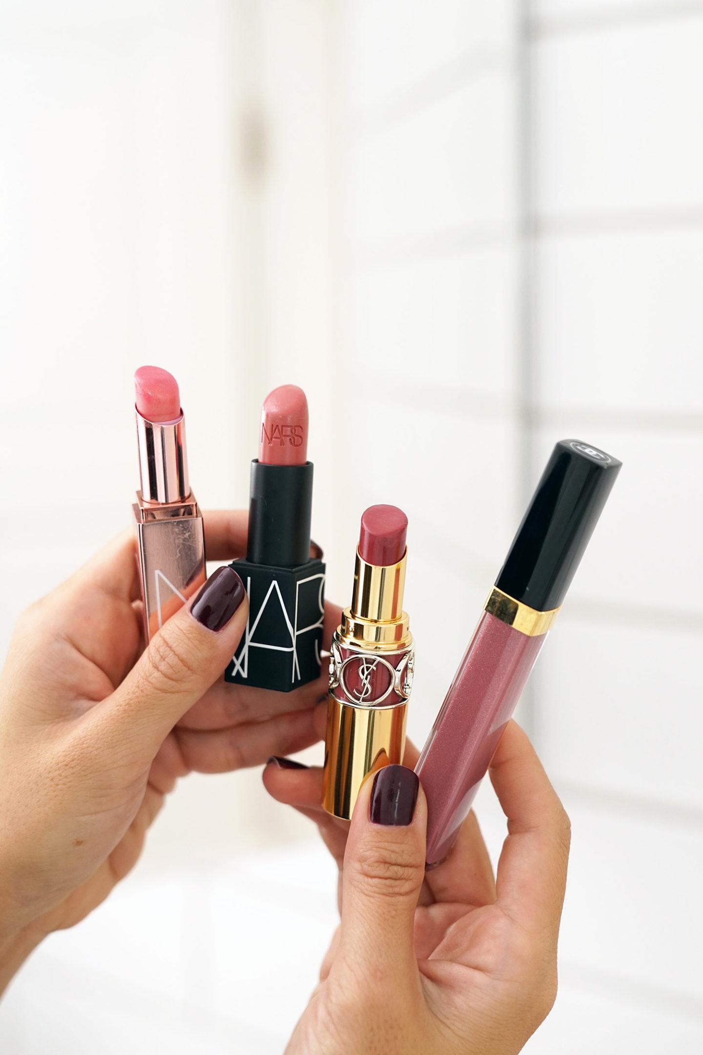 Rotation des lèvres en automne NARS, YSL et Chanel
