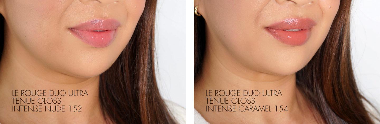 Chanel Le Rouge Duo Ultra Brillant Intense Nu Et Intense Caramel