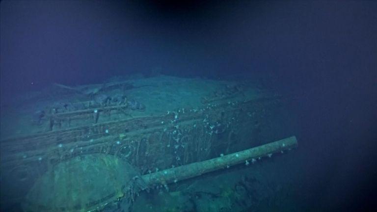 Les scientifiques ont utilisé des robots sous-marins pour filmer le naufrage