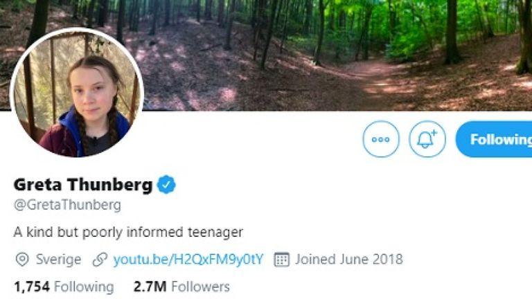 La grande Thunberg a modifié sa biographie Twitter après les commentaires de Vladimir Poutine