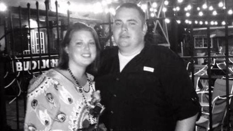 Heath Bumpous avec sa fiancée