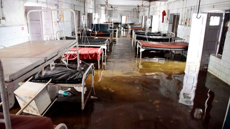 Un pavillon a été inondé au Collège médical et hôpital de Nalanda à Patna