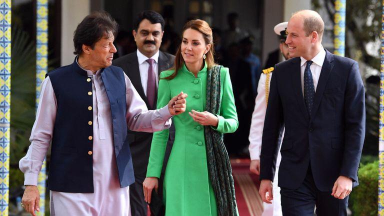 Prince William et Kate avec Imran Khan au Pakistan