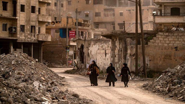 Les FDS dirigées par les Kurdes ont libéré la ville de Raqa, dans le nord de la Syrie, des militants de l'EI en 2017
