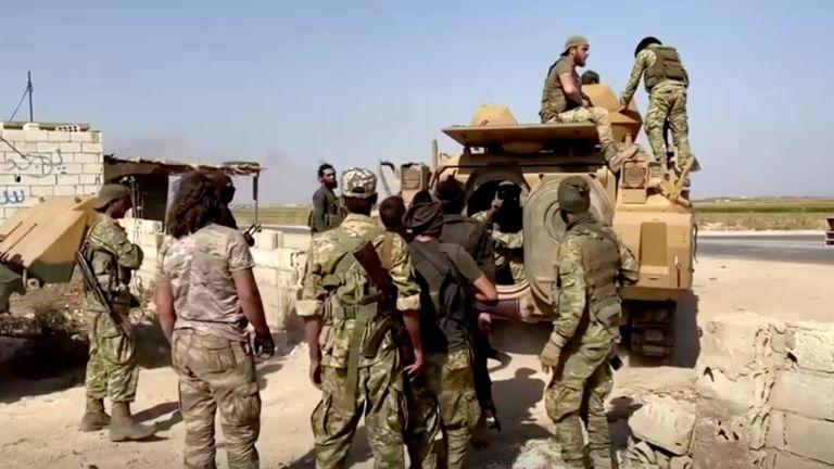 Les rebelles syriens partent