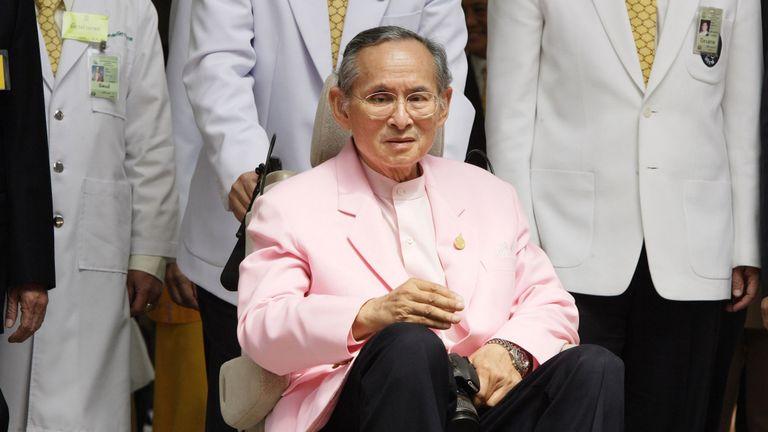 Le roi thaïlandais Bhumibol Adulyadej