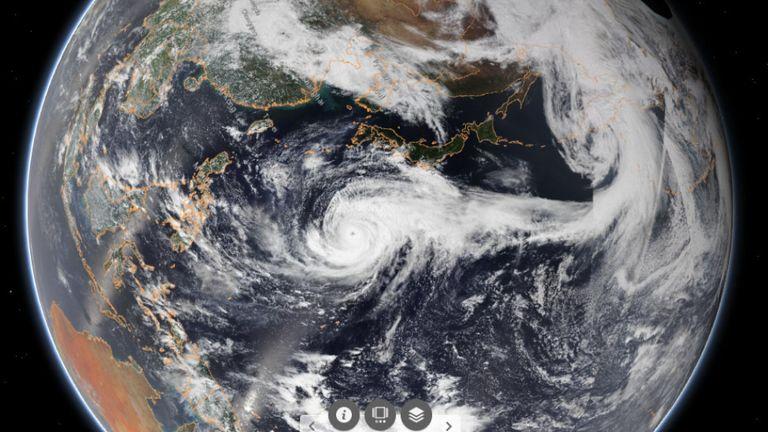 Jusqu'à 50 cm de pluie pourraient frapper certaines régions du Japon. Pic: NOAA