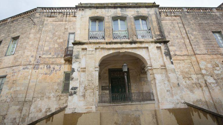 L'extérieur de la Villa Guardamangia