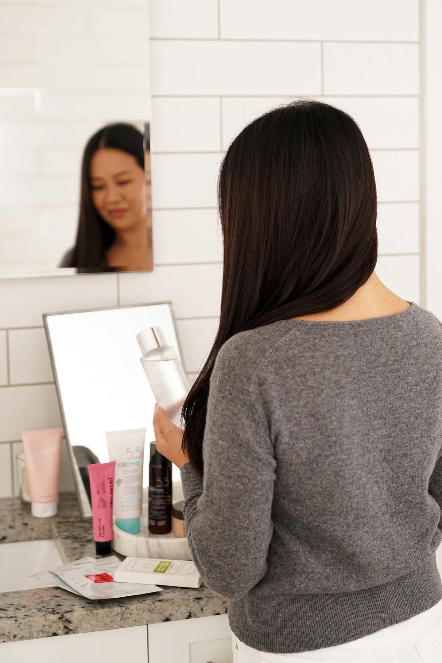 Ensemble de 5 étapes de routine de soin de la peau coréenne pour la peau normale