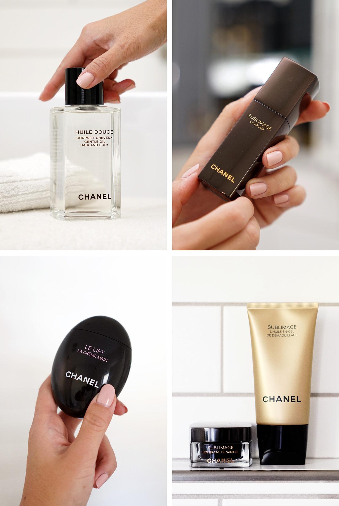 Chanel Favorites for November Body Oil, Crème pour les mains Le Lift, Sublimage