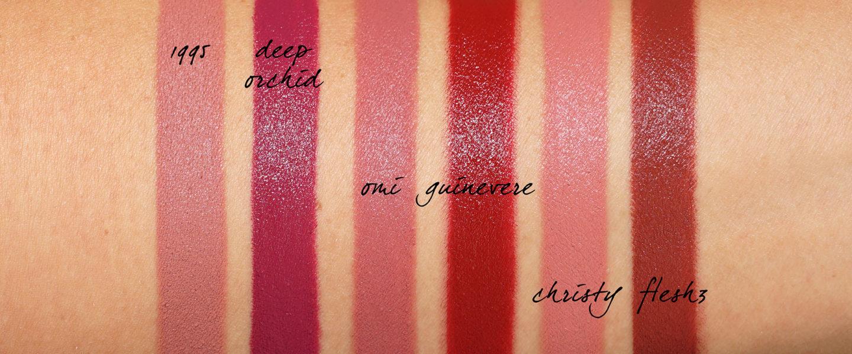 Échantillons de rouge à lèvres Pat McGrath MatteTrance