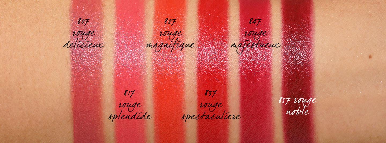 Échantillons de rouge à lèvres Chanel Holiday 2019 Rouge Allure