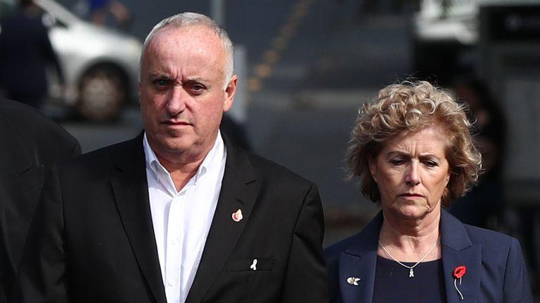 Les parents de Grace Millane, David et Gillian, arrivent à la Haute Cour d'Auckland