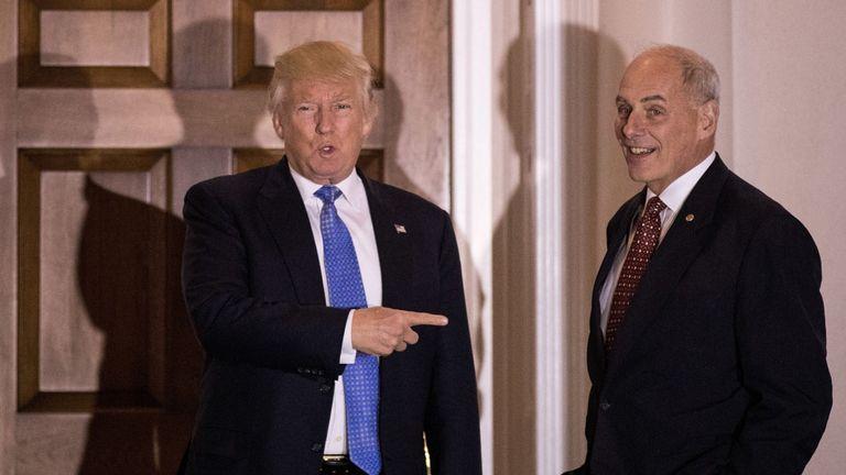 Donald Trump et John Kelly travaillent ensemble depuis 16 mois