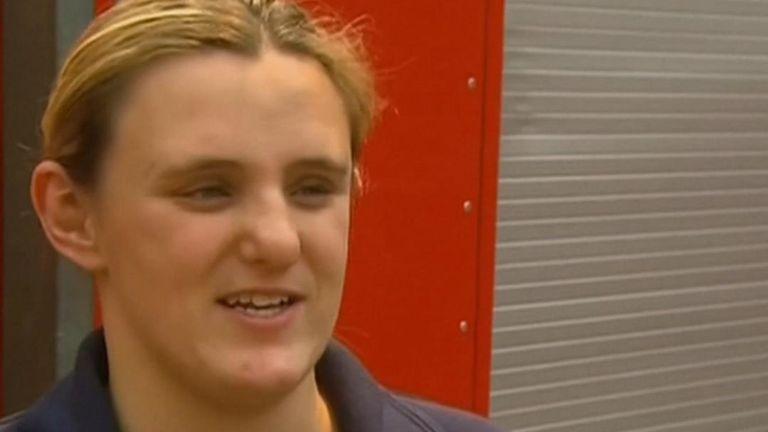 La combattante australienne enceinte Kat Robinson-Williams