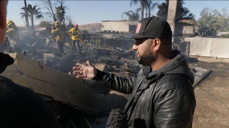 La maison de Matt Valdivia a été réduite en fumée et en cendres