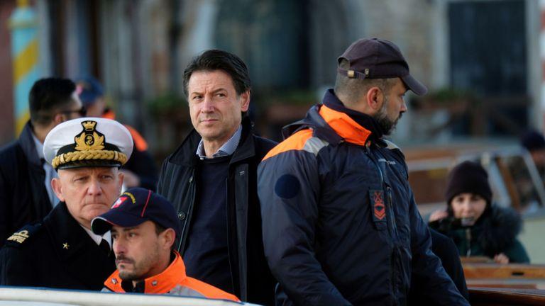 Le Premier ministre italien Giuseppe Conte à Venise