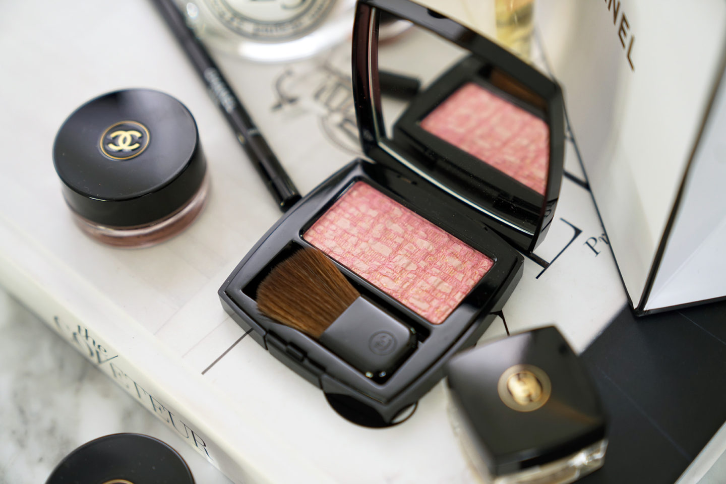 Chanel Les Tissages De Chanel Tweed Pink Blush