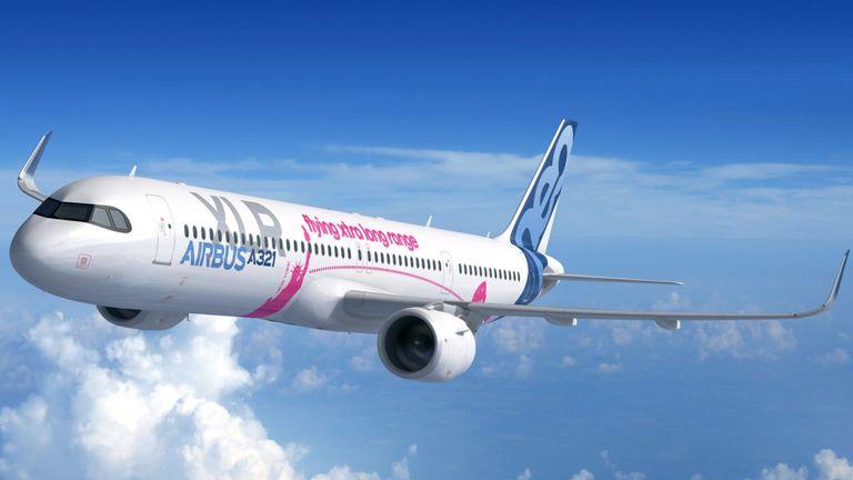 Le A321XLR est une version large de la série A321 originale. Pic: Airbus