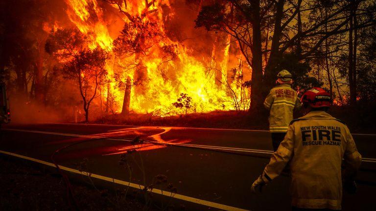 Les pompiers s'attaquent aux flammes à Sydney au début du mois